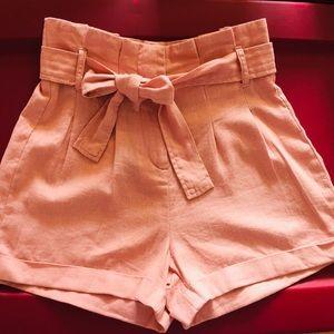 ✨2/30$✨NWT Pink High Waisted Linen Short